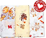 Premium 100% Organic Cotton Baby Swaddling Receiving Blankets Newborn Girl ...